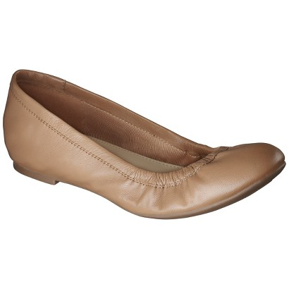 Women's Merona® Emma Genuine Leather Flat - Assorted Colors