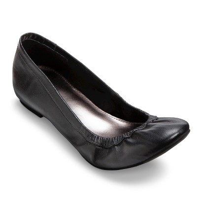 Women's Merona® Emma Genuine Leather Flat - Assorted Colors