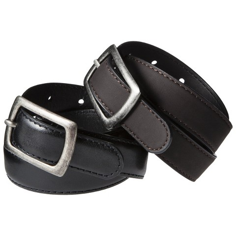 Boys' 2-Pack Belts - Brown/Black