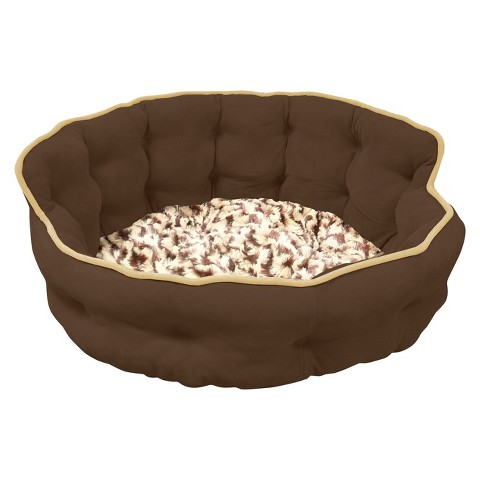 """Canine Creations Tufted Headboard Pet Bed - Chocolate (22x22"""")"""