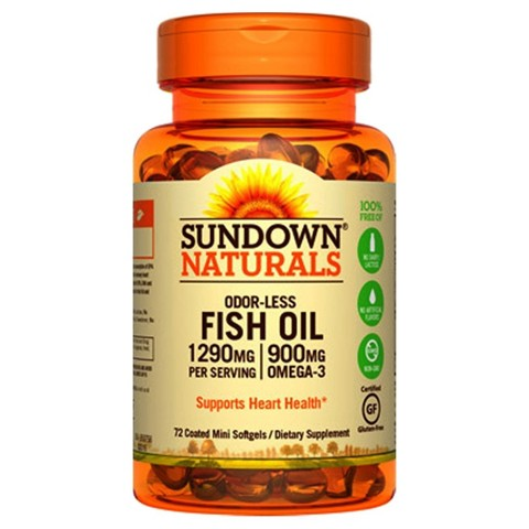 Sundown Naturals® Odorless Premium Omega 3 Dietary Supplement Mini Softgels - 60 Count