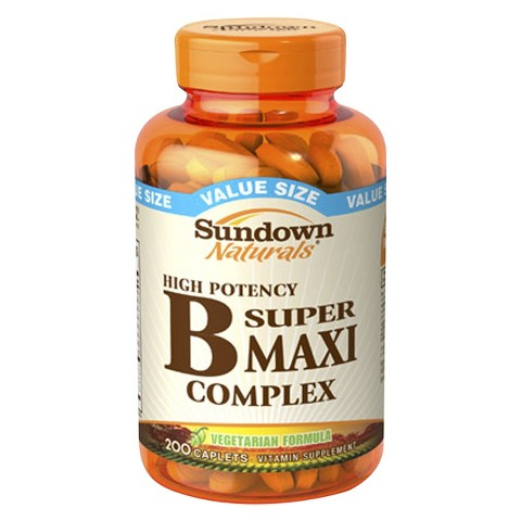 Sundown Naturals® High Potency B Super Maxi Vitamin Suppliment Caplets - 200 Count