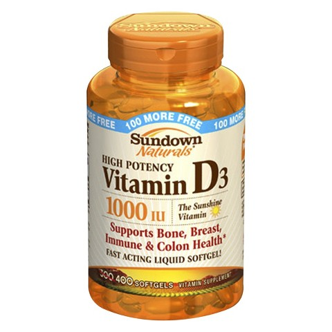 Sundown Naturals® High Potency Vitamin Supplement Softgels - 400 Count