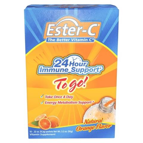 Ester-C® Natural Orange Immune Support Vitamin Supplement  - 0.32 oz