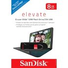 SanDisk Cruzer Glide 8GB USB Flash Drive - Black/Red (SDCZ60-008G-T11)