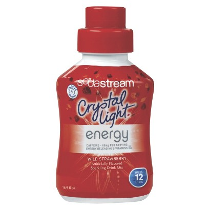 SodaStream™ Crystal Light Energy Drink Wild Strawberry Drink Mix
