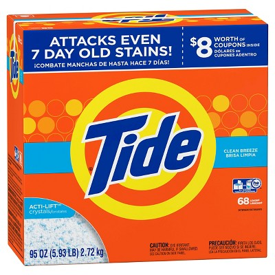 Tide Turbo Clean Breeze Powder Laundry Detergent - 95 oz 68 Loads