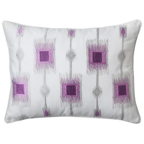 "Bonaire Pillow - Pink/Gray (14""x18"")"