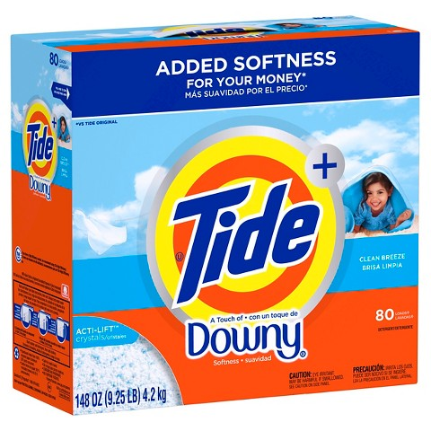 Ultra Tide plus a Touch of Downy® Clean Breeze Laundry Detergent Powder - 80 loads