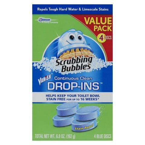 Scrubbing Bubbles® Vanish Continuous Clean Drop-Ins - 4 Count
