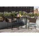 Threshold™ Casetta 3-Piece Wicker Patio Bar Height Bistro Furniture Set
