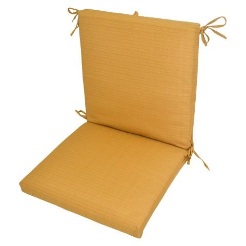 Threshold™ Outdoor Hybrid Chair Cushion - Yellow Textured