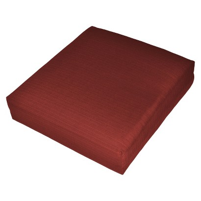Threshold™ Outdoor Deep Seating Cushion - Red Textured