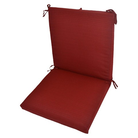 Threshold™ Outdoor Hybrid Chair Cushion - Red Textured