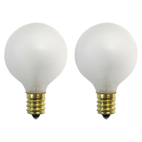 Room Essentials™ 2Pk Frosted G40 Replacement Bulbs