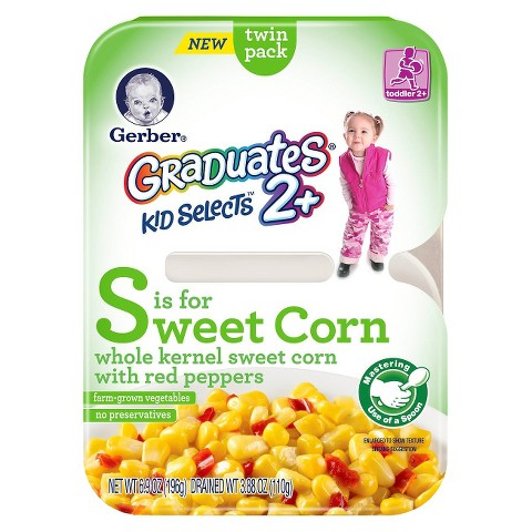 Gerber Graduates Kid Selects Sweet Corn Twin Pack 6.9 oz
