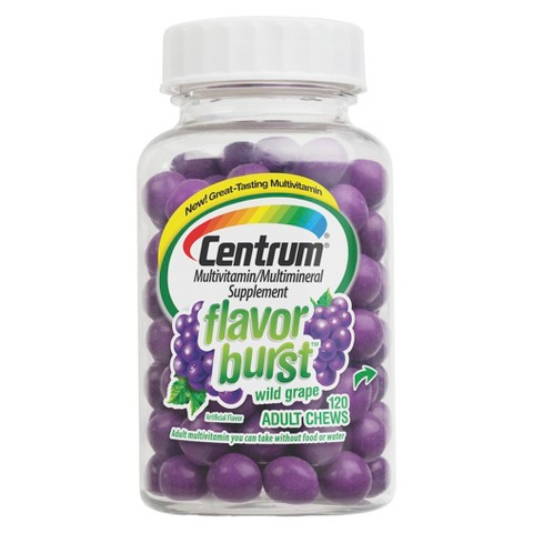 Centrum® Wild Grape Multivitamin and Multimineral Supplement  Adult Chews - 120 Count