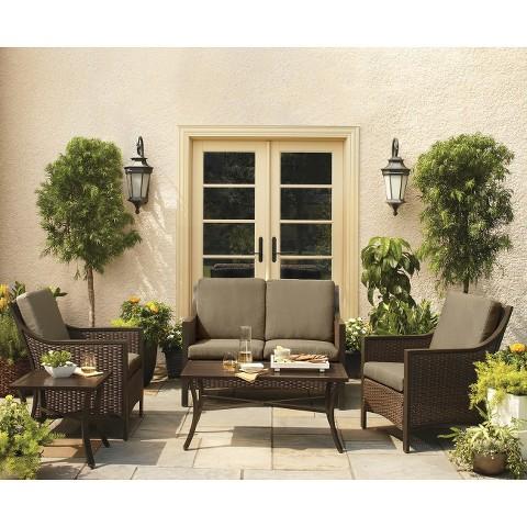 Threshold™ Casetta 5-Piece Wicker Patio Conversation Furniture Set
