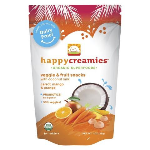 Happy Baby Happy Creamies Organic Baby Food Carrot/Mango/Orange/Sweet Potato (8 Pack)