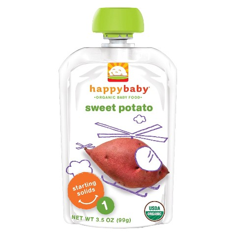 Happy Baby Organic Baby Food Stage 1 Sweet Potato (16 Pack)