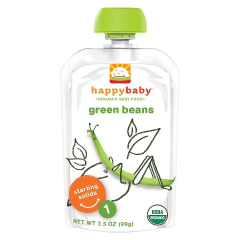 Happy Baby Organic Baby Food Stage 1 Green Beans (16 Pack)