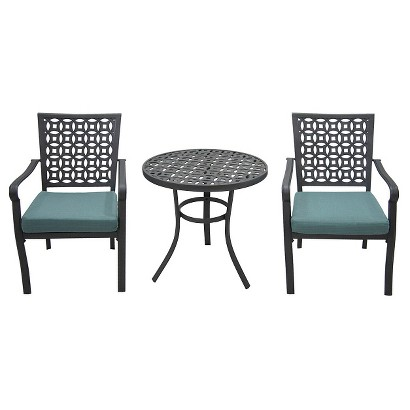 Threshold™ Hawthorne 3-Piece Metal Patio Bistro Furniture Set - Blue