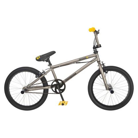 "Mongoose Boys Index 1.0 20"" Bike - Gray/Yellow"