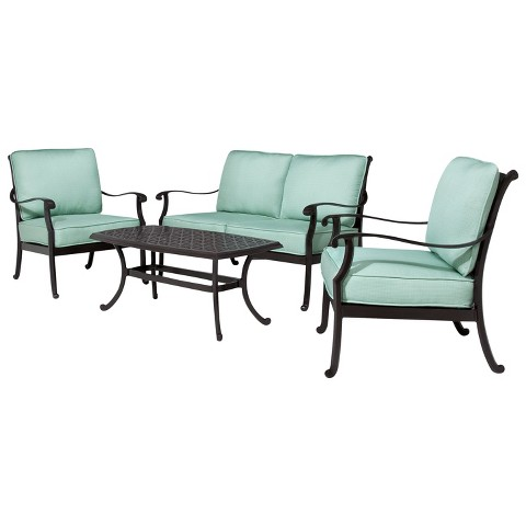 Smith & Hawken® Edinborough 4-Piece Metal Patio Conversation Furniture Set