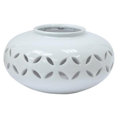 Threshold™ Ceramic Solar Lantern - Oval