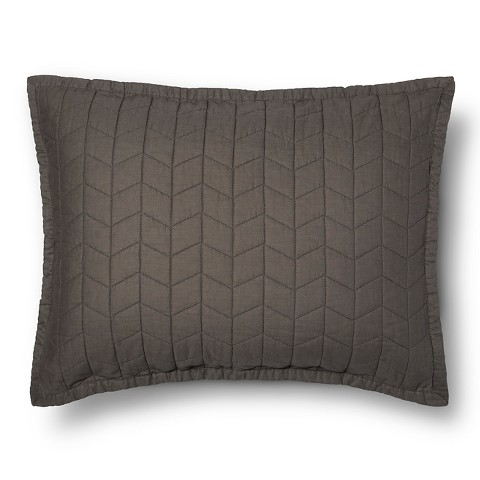Vintage Washed Solid Quilted Sham - Threshold™