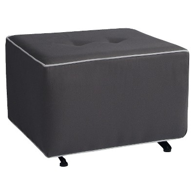 Little Castle Gliding Ottoman with Buttons - Gray