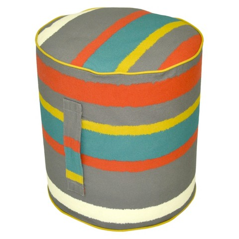 Threshold™ Outdoor Round Pouf Footstool - Paper Stripe Warm