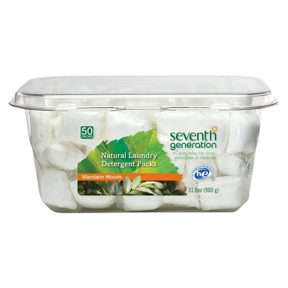 Seventh Generation Mandarin Woods Laundry Detergent Packs 50 ct