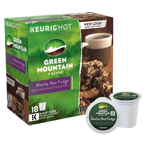 Green Mountain Coffee Mocha Nut Fudge Keurig K-Cups 18 ct