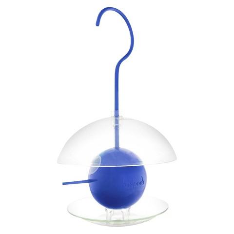 Birdpod 2-in-1 Baffled Birdfeeder or Spring Birdhouse - Blue