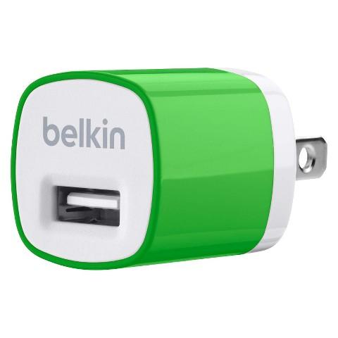 Belkin Micro Wall Charger - Green (F8J017ttGRN)