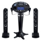 The Singing Machine Pedestal CD+G Karaoke Player with iPod Dock and 7 TFT LCD Color Monitor - Black