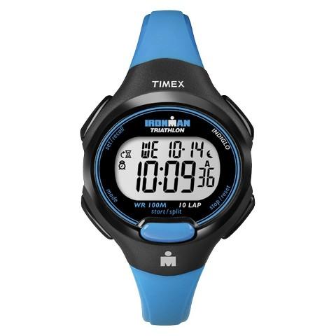 Women's Timex Ironman® Essential 10 Lap Digital Watch - Blue T5K526JT