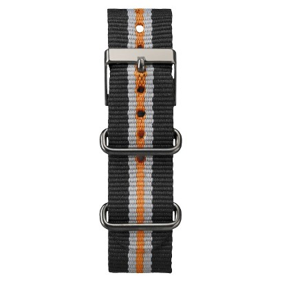 Timex Weekender™ Full-Size Slip Thru Replacement 20mm Strap - Black/Orange - T7B963TV