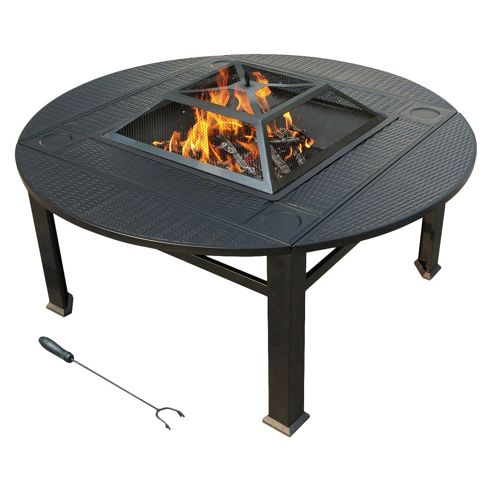 Fire Pits: leisurelife Venice Faux Wicker Extendable Firepit Firepit, Firepits, Fire Pit, Outdoor Fireplace, Gas Firepit, Metal Firepit, Stone Firepit