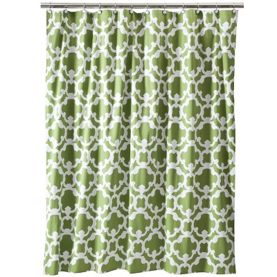 Threshold™ Home Grid Shower Curtain - Green