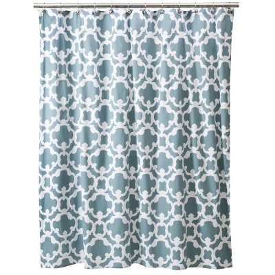 Threshold™ Home Grid Shower Curtain - Blue