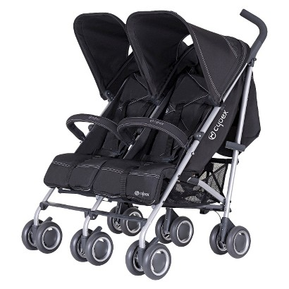 Cybex Pure Black Twinyx Double Stroller