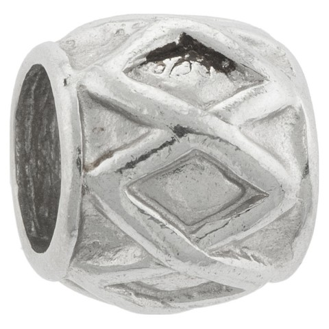 Sterling Silver Charm Bead - Silver