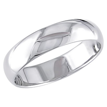 Men's 10K White Gold Wedding Band