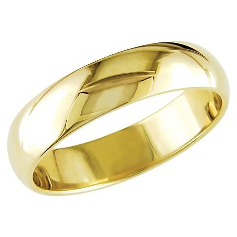 Men's 10K Yellow Gold Wedding Band