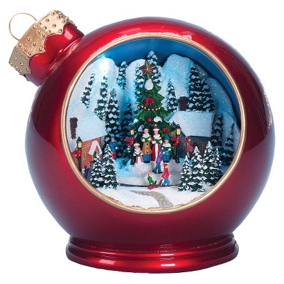 Tabletop Christmas Ornament Figure w/ Scene