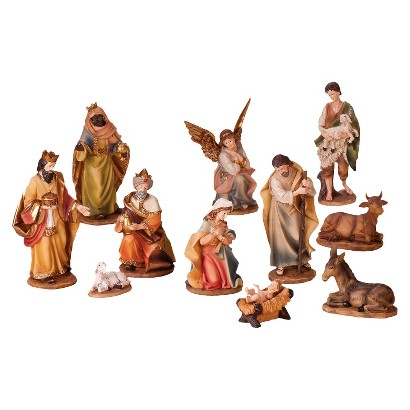 "Traditional Nativity Set - 11 Piece (8"")"