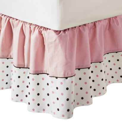 100% Percale Dot Fashion Crib Skirt