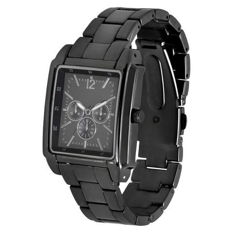 Merona® Rectangle Case Bracelet Watch - Gunmetal